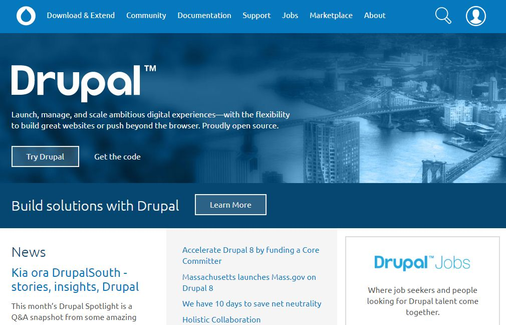 drupal blog builder site