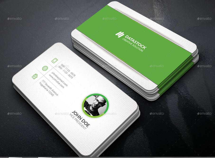 green corporate simple card