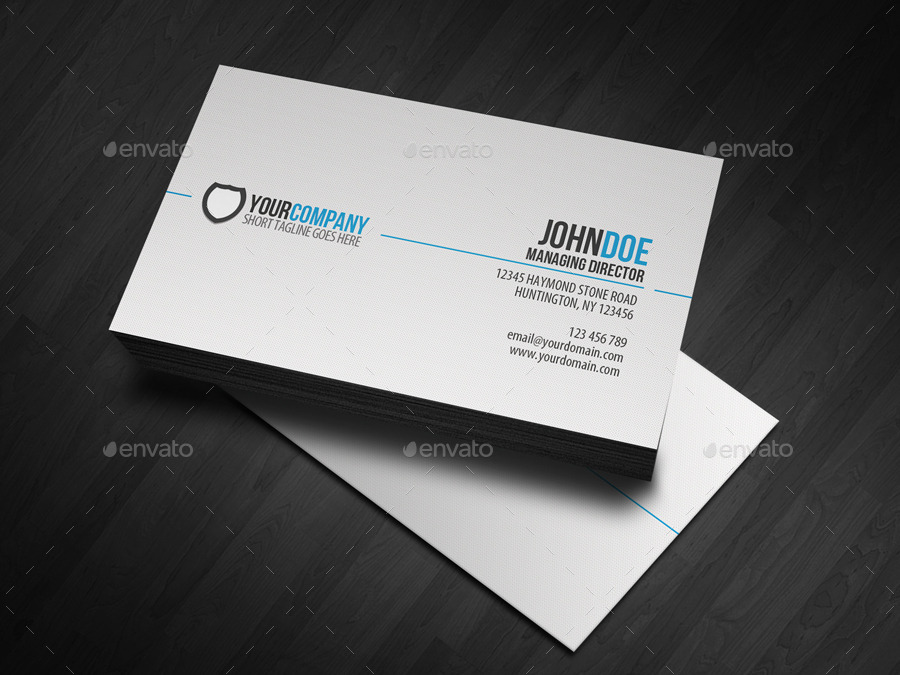 31 professional simple business cards templates for 2018 simple business cards wajeb Choice Image