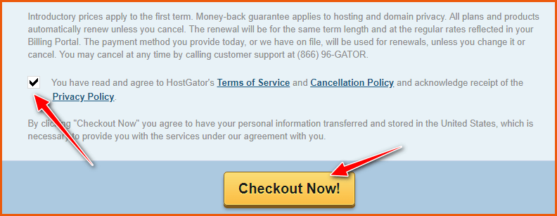 HostGator Hosting Checkout